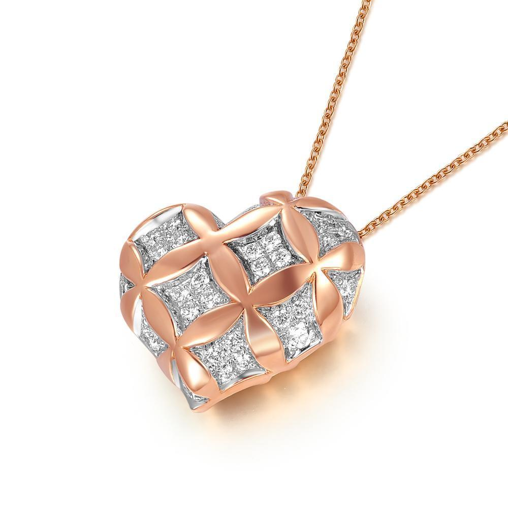 Heart Pendant in 18k Rose Gold with Diamonds (0.248ct) Pendant IAD