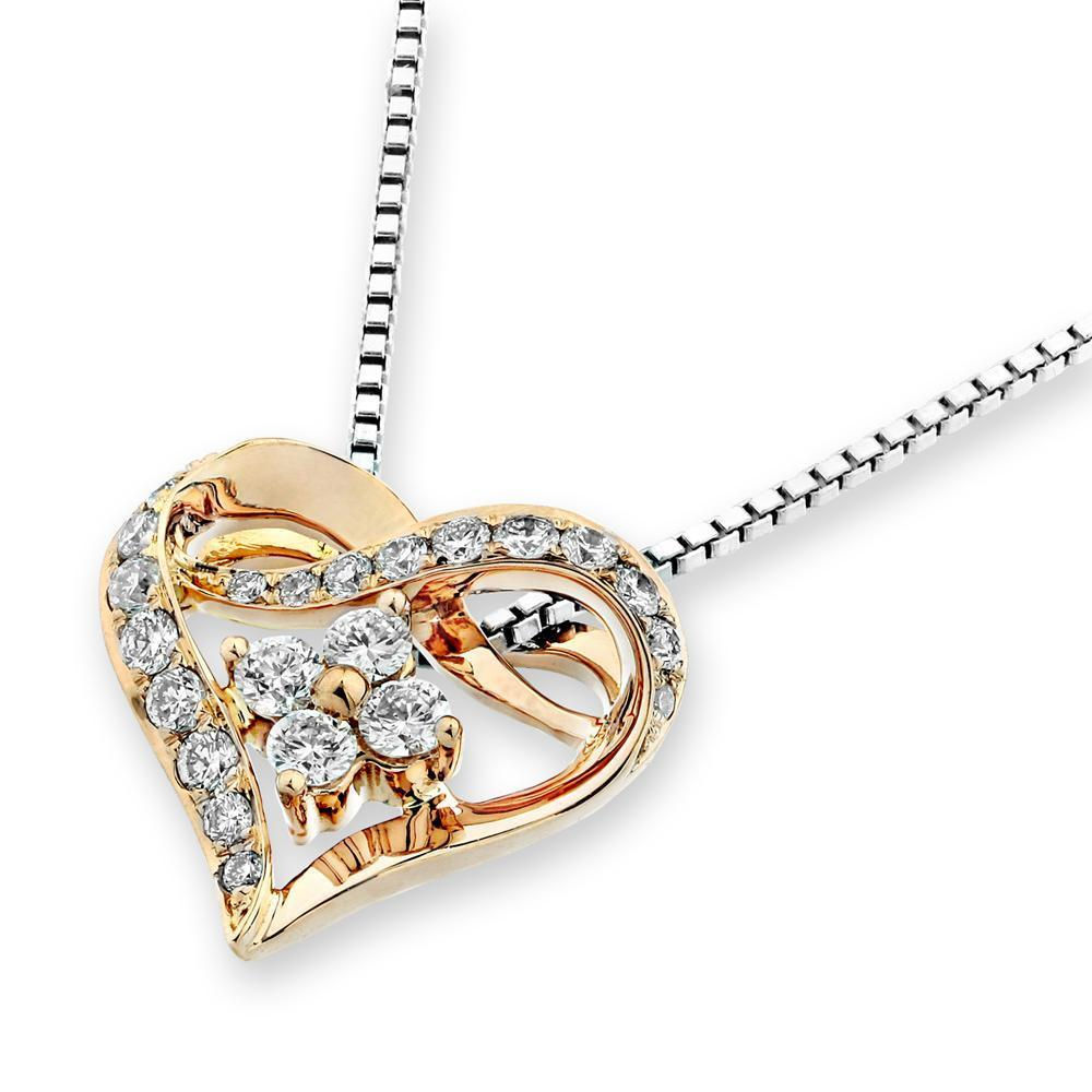 Heart Pendant in 18k Rose Gold with Diamonds (0.272ct) Pendant IAD