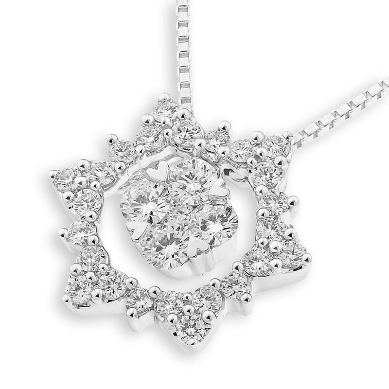 Heart-Star Pendant in 18k White Gold with Diamonds (0.671ct) Pendant IAD