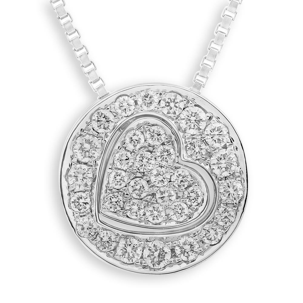 Heart Two-Piece Pendant in 18k White Gold with Diamonds (0.306ct) Pendant IAD