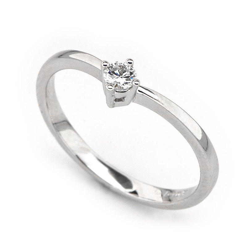 Heart Two-Piece Ring in 18k White Gold with Diamonds (0.162ct) Two-Piece Ring IAD