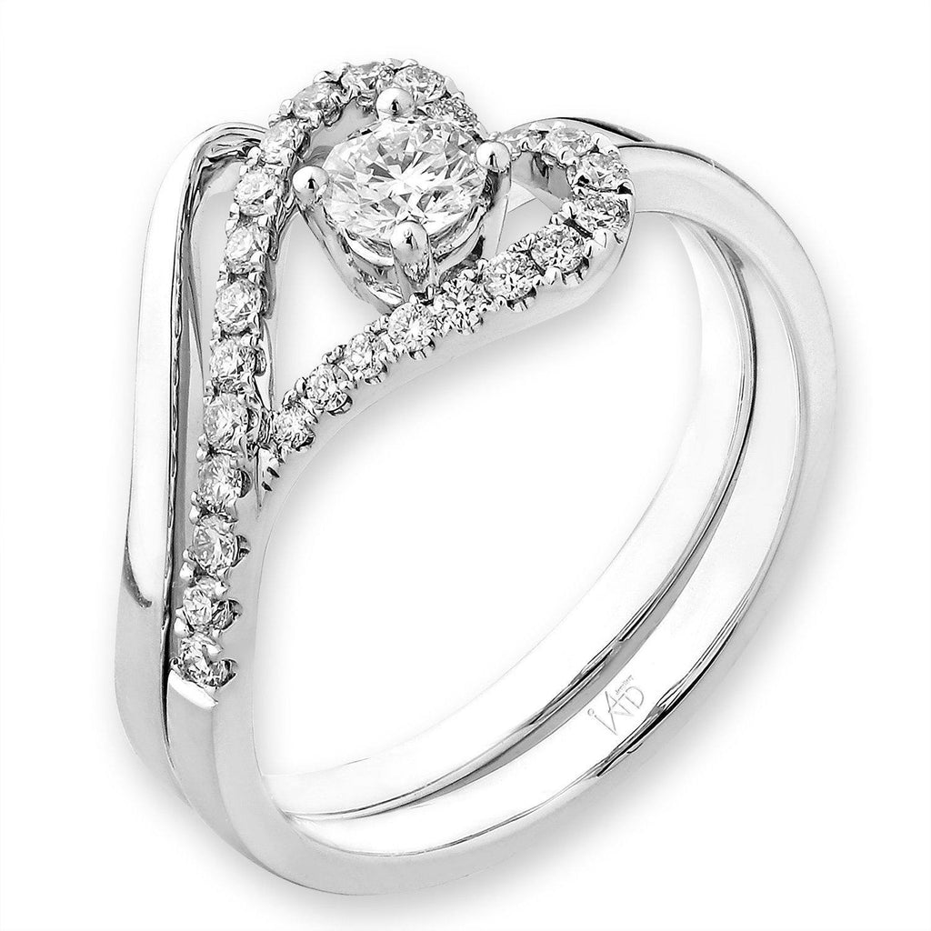 Heart Two-Piece Ring in 18k White Gold with Diamonds (0.38ct) Two-Piece Ring IAD
