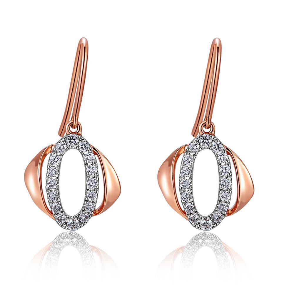 Infinite Ribbons Earrings in 18k Rose & White Gold with Diamonds (0.259ct) Earrings IAD