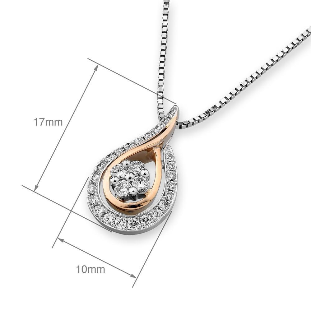 Infinite Ribbons Pendant in 18k Rose & White Gold with Diamonds (0.267ct) Pendant IAD