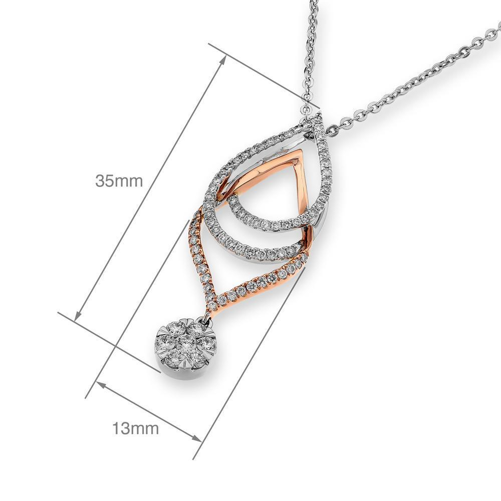 Infinite Ribbons Pendant in 18k Rose & White Gold with Diamonds (0.607ct) Pendant IAD