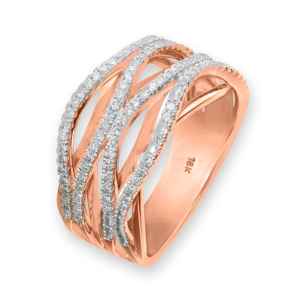 Infinite Ribbons Ring in 18k Rose Gold with Diamonds (0.511ct) Ring IAD