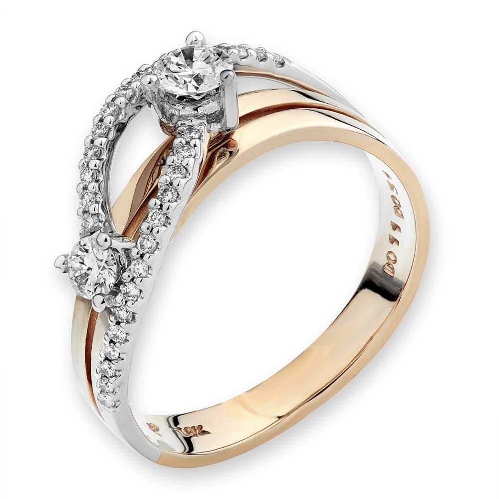 Infinite Ribbons Ring in 18k Rose, Yellow & White Gold with Diamonds (0.426ct) Ring IAD