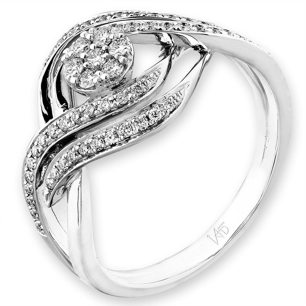 Infinite Ribbons Ring in 18k White Gold with Diamonds (0.267ct) Ring IAD