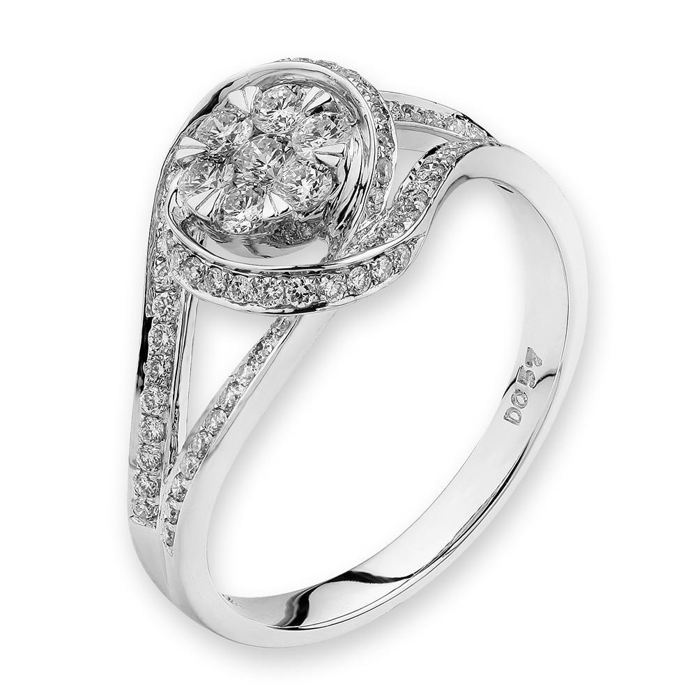 Infinite Ribbons Ring in 18k White Gold with Diamonds (0.447ct) Ring IAD