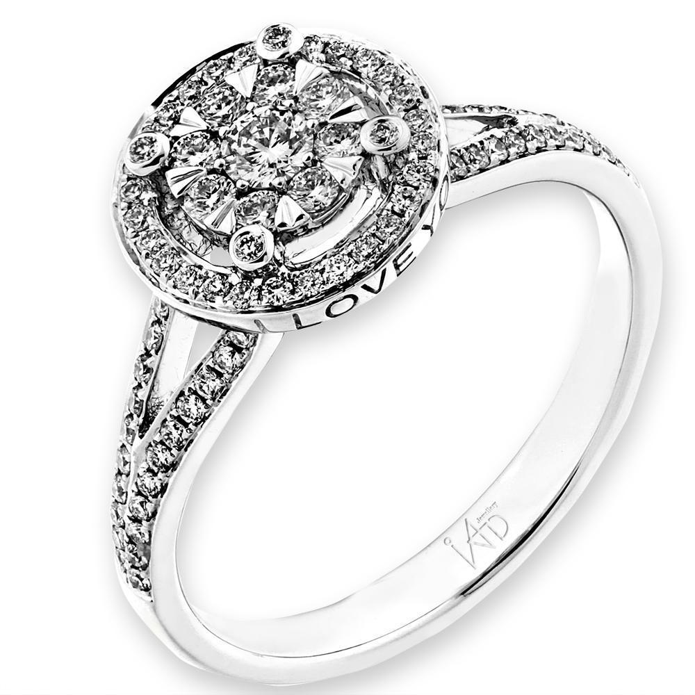 Love Ring in 18k White Gold with Diamonds (0.412ct) Ring IAD