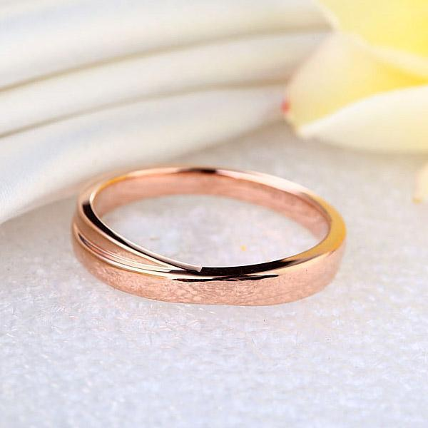 Men's Ring in 14k Rose Gold His Wedding Band Oanthan