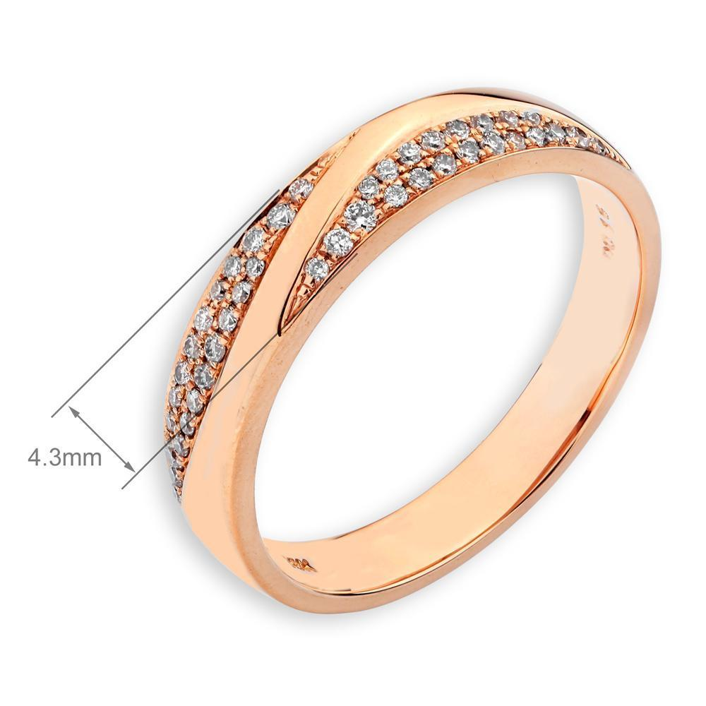Men's Ring in 18k Rose Gold with Diamonds (0.165ct) Men's Ring Olivia Davenport Fine Jewels