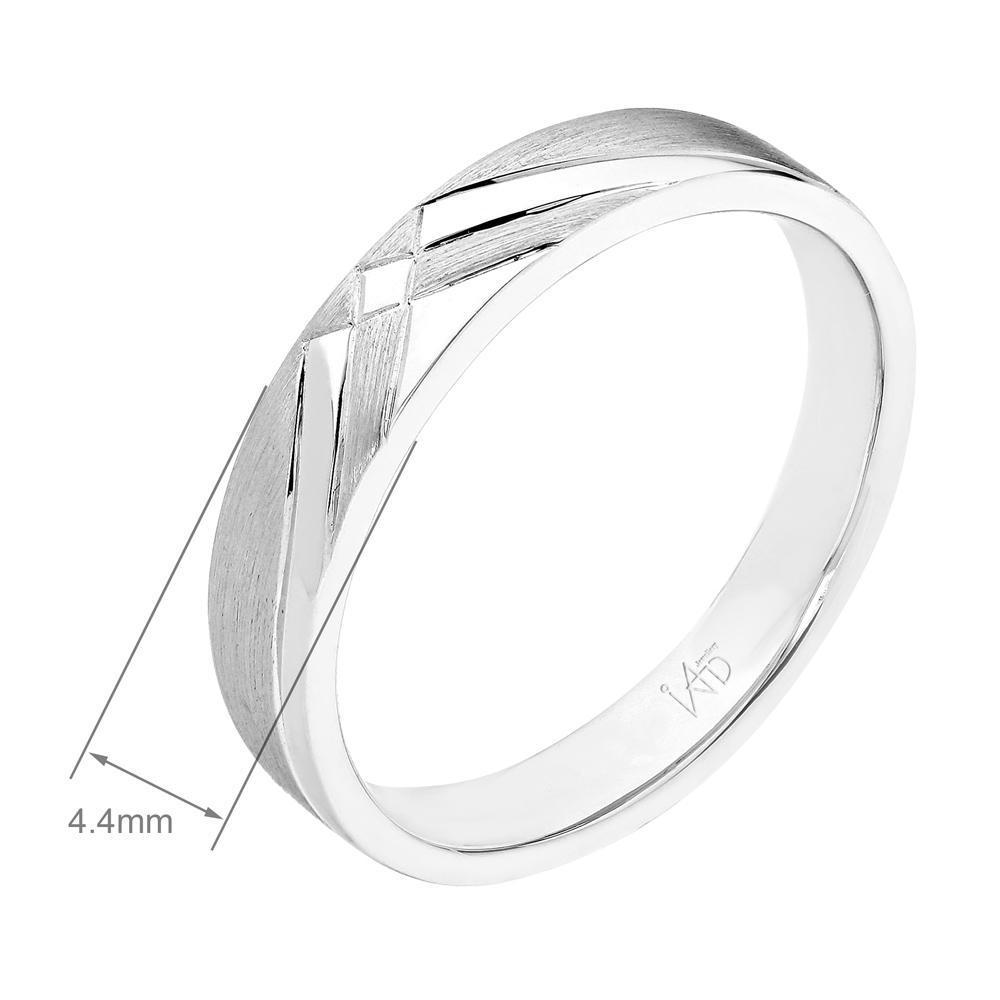 Men's Ring in 18k White Gold with Diamonds (0.018ct) Men's Ring Olivia Davenport Fine Jewels