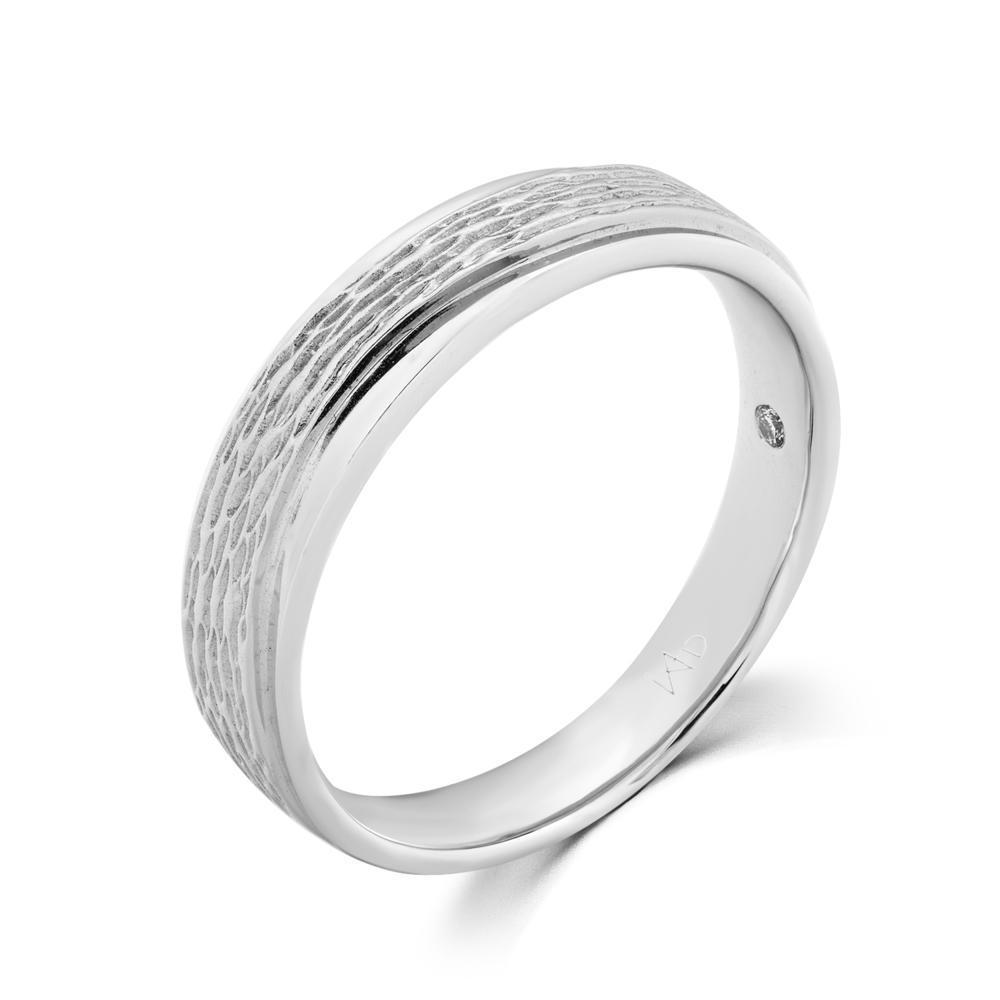 Men's Ring in 18k White Gold with Diamonds (0.01ct) Men's Ring Olivia Davenport Fine Jewels