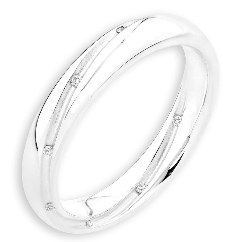 Men's Ring in 18k White Gold with Diamonds (0.031ct) Men's Ring Olivia Davenport Fine Jewels