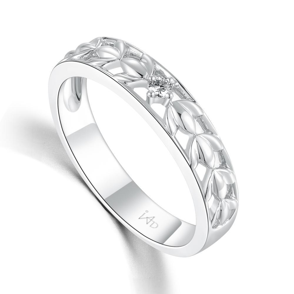 Men's Ring in 18k White Gold with Diamonds (0.036ct) Men's Ring Olivia Davenport Fine Jewels