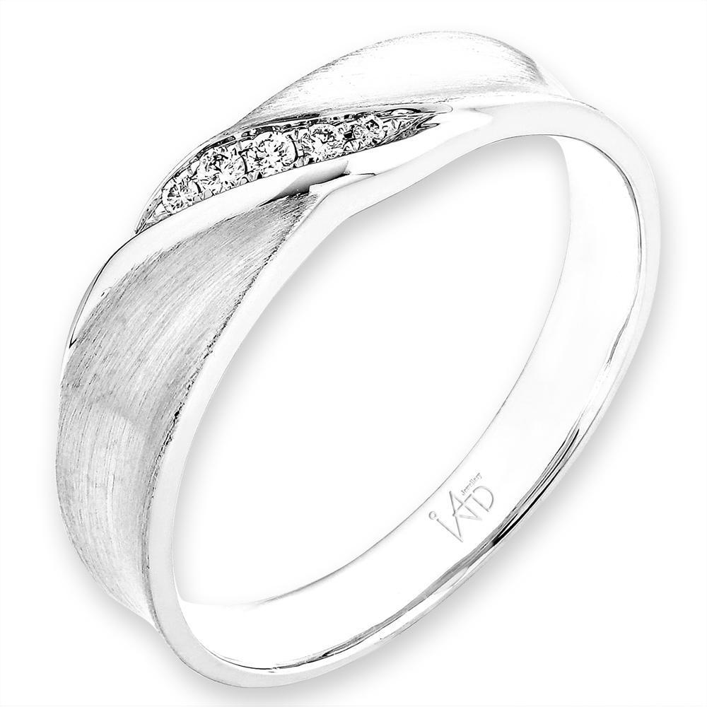 Men's Ring in 18k White Gold with Diamonds (0.038ct) Men's Ring Olivia Davenport Fine Jewels