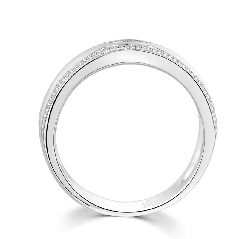Men's Ring in 18k White Gold with Diamonds (0.039ct) Men's Ring Olivia Davenport Fine Jewels