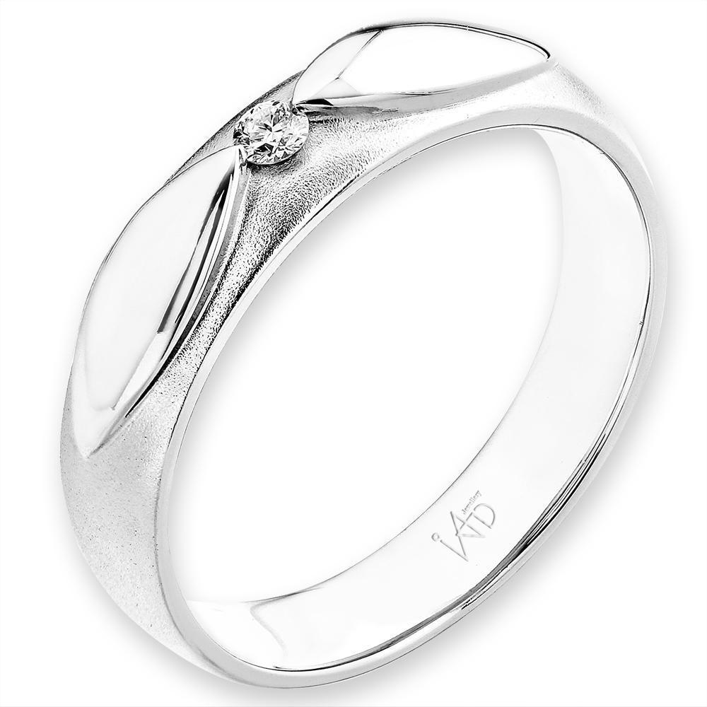 Men's Ring in 18k White Gold with Diamonds (0.048ct) Men's Ring Olivia Davenport Fine Jewels