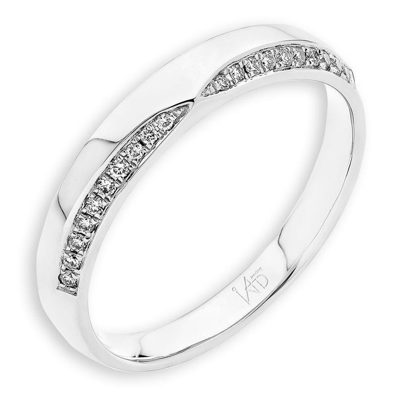 Men's Ring in 18k White Gold with Diamonds (0.088ct) Men's Ring IAD