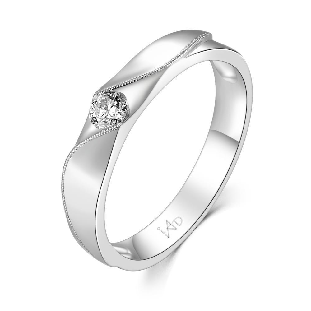 Men's Ring in 18k White Gold with Diamonds (0.147ct) Men's Ring Olivia Davenport Fine Jewels