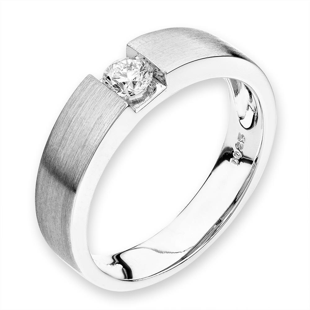 Men's Ring in 18k White Gold with Diamonds (0.258ct) Men's Ring Olivia Davenport Fine Jewels