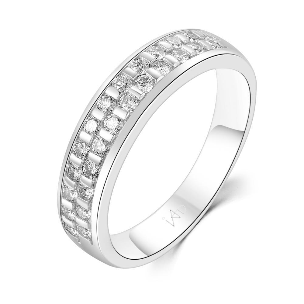 Men's Ring in 18k White Gold with Diamonds (0.527ct) Men's Ring Olivia Davenport Fine Jewels