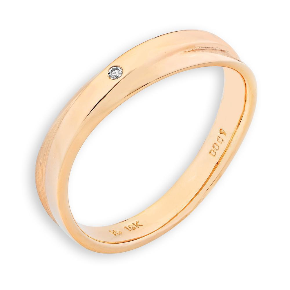 Men's Ring in 18k Yellow Gold with Diamonds (0.006ct) Men's Ring Olivia Davenport Fine Jewels