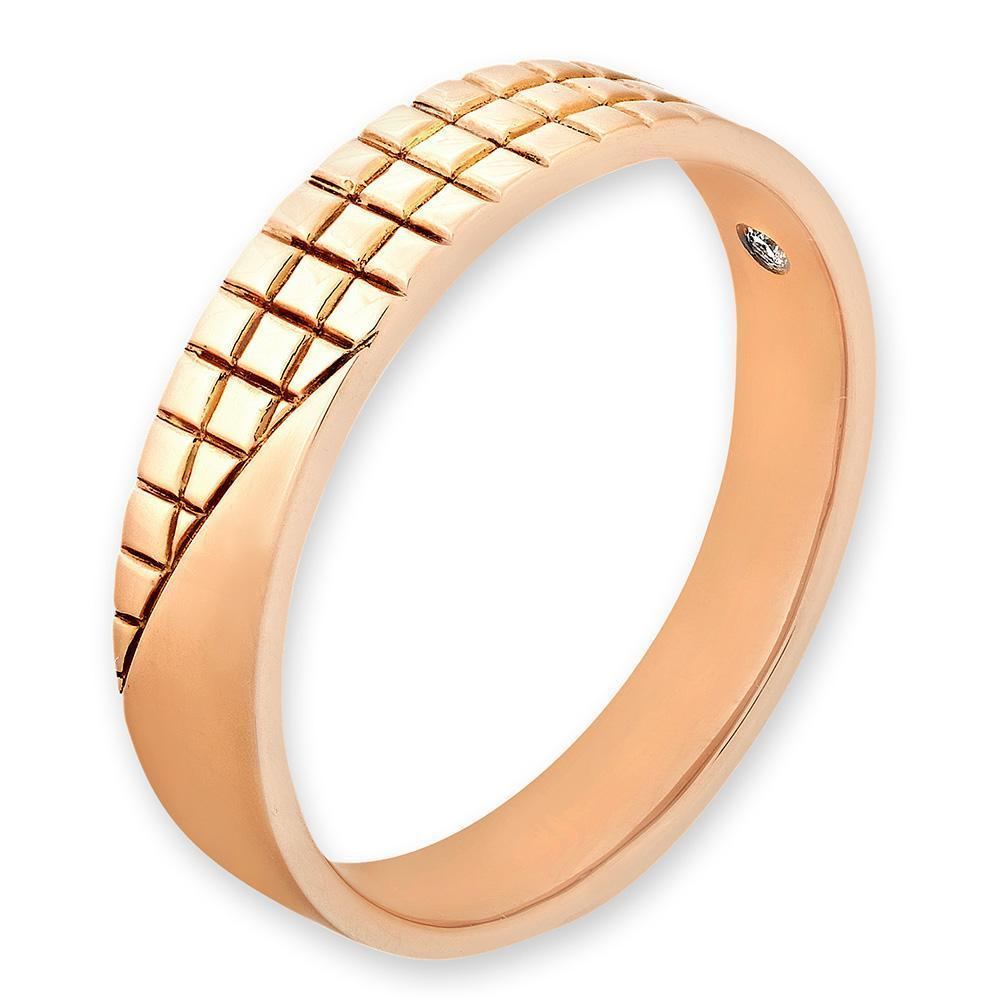Men's Ring in 18k Yellow Gold with Diamonds (0.015ct) Men's Ring Olivia Davenport Fine Jewels