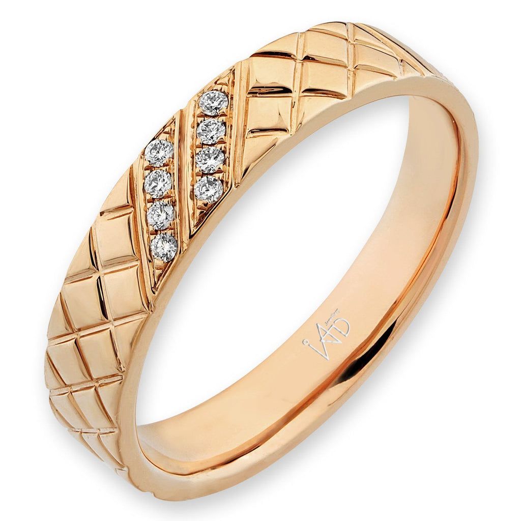 Men's Ring in 18k Yellow Gold with Diamonds (0.056ct) Men's Ring Olivia Davenport Fine Jewels