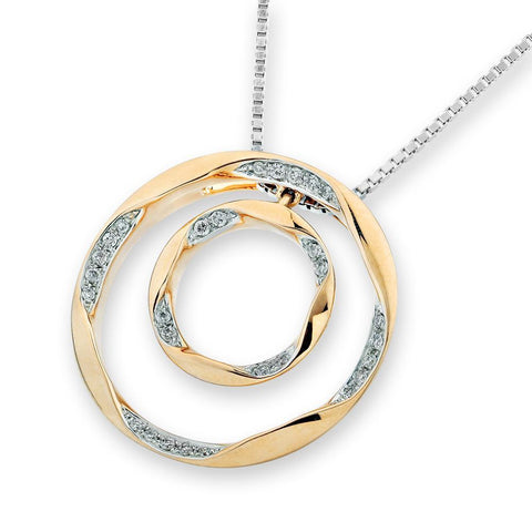 Heart Pendant in 18k Rose Gold with Diamonds (1.179ct)