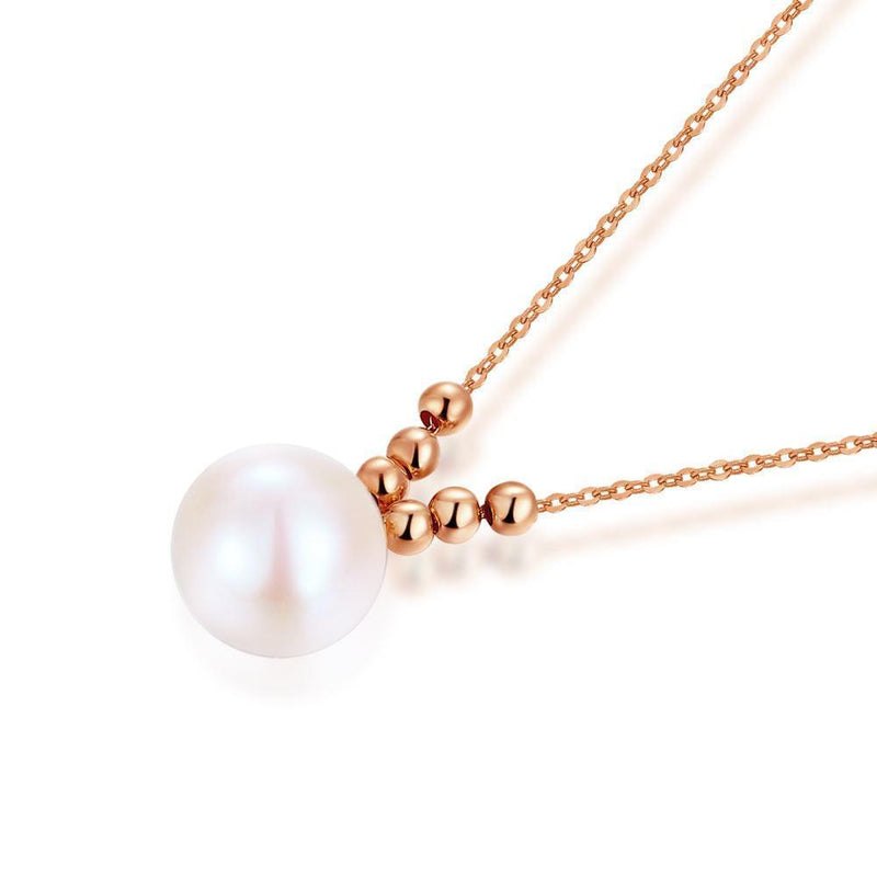 Pearl Pendant in 18k Rose Gold 18K Gold Pendants Oanthan