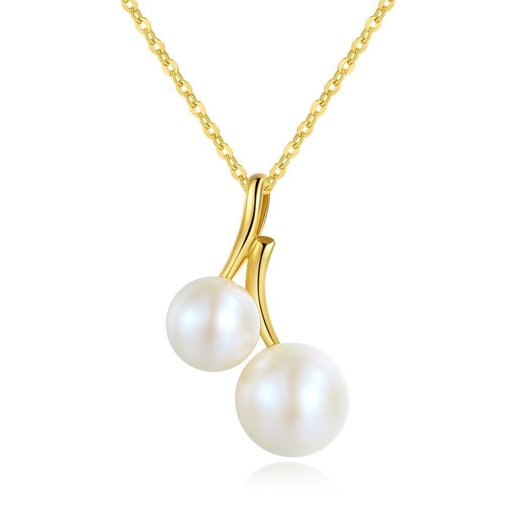 Pearl Pendant in 18k Yellow Gold 18K Gold Pendants Oanthan