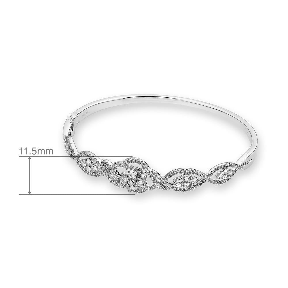 Royal Windsor Bangle in 18k White Gold with Diamonds (1.609ct) Bangle IAD