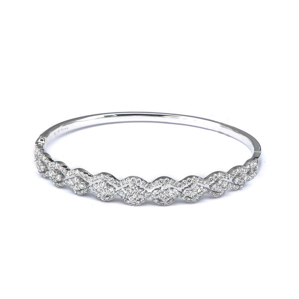 Royal Windsor Bangle in 18k White Gold with Diamonds (2.09ct) Bangle IAD
