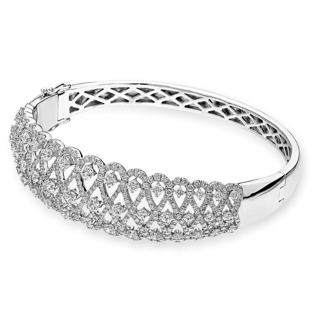 Royal Windsor Bangle in 18k White Gold with Diamonds (4.321ct) Bangle IAD