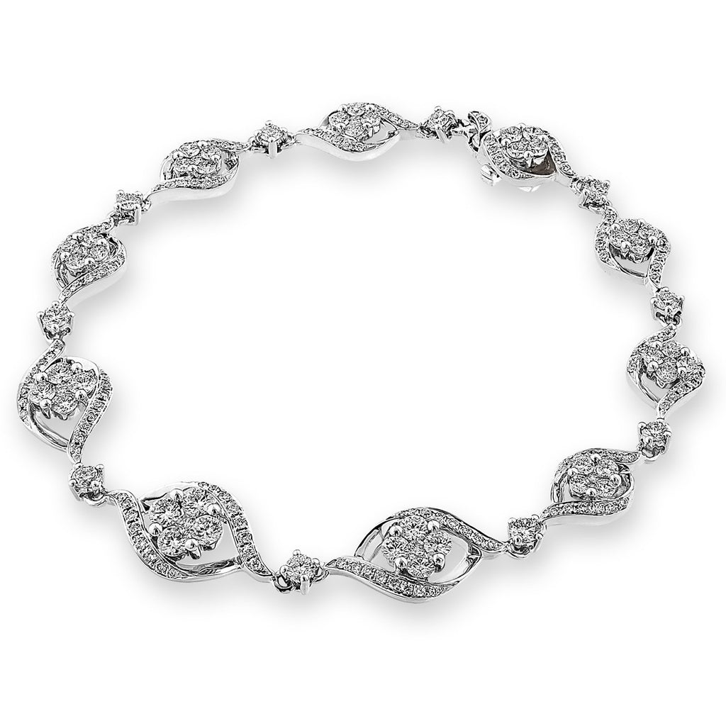 Royal Windsor Bracelet in 18k White Gold with Diamonds (2.091ct) Bracelet IAD