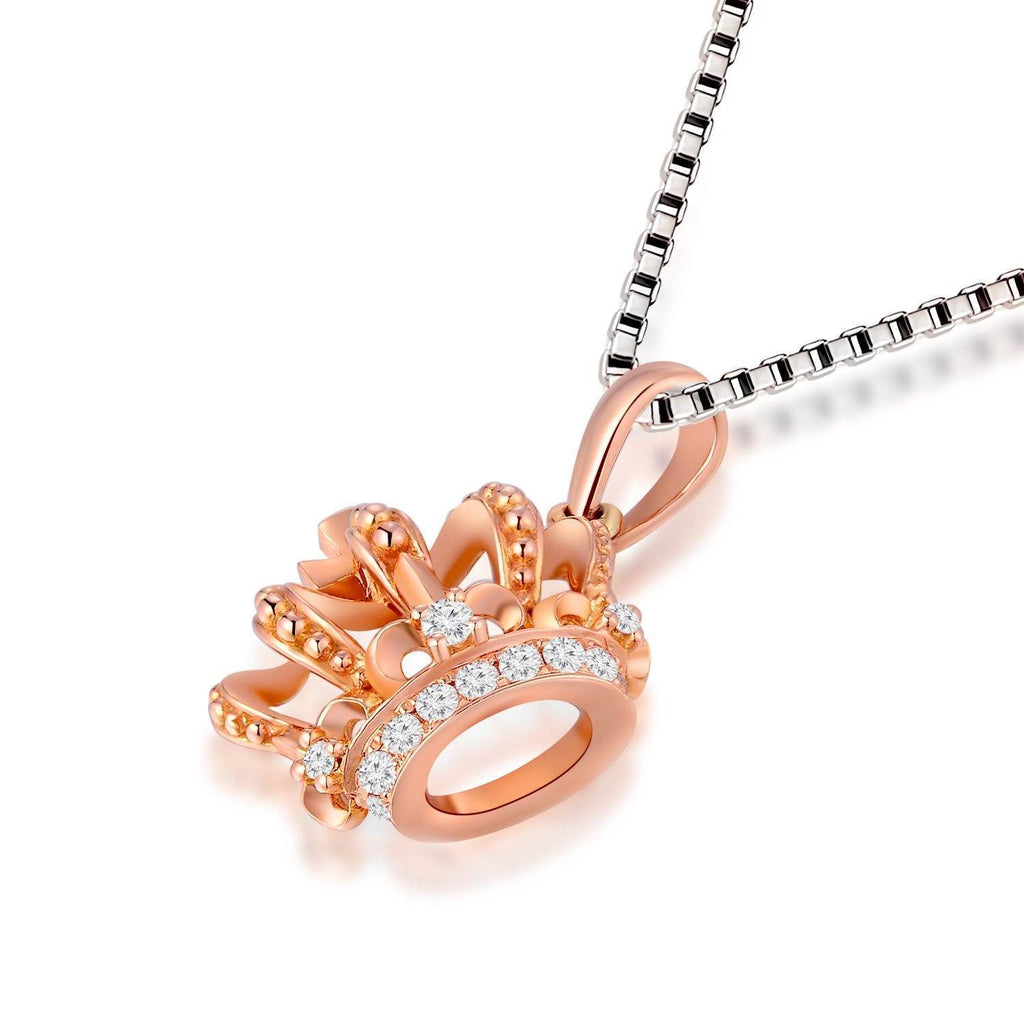 Royal Windsor Crown Pendant in 18k Rose Gold with Diamonds (0.064ct) Pendant IAD