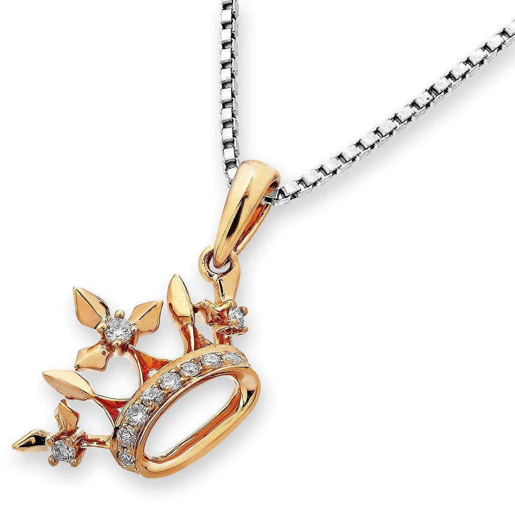 Royal Windsor Crown Pendant in 18k Rose Gold with Diamonds (0.07ct) Pendant IAD