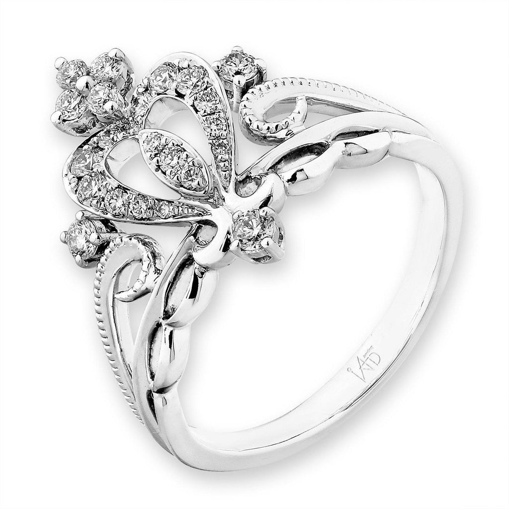 Royal Windsor Crown Ring in 18k White Gold with Diamonds (0.292ct) Ring IAD