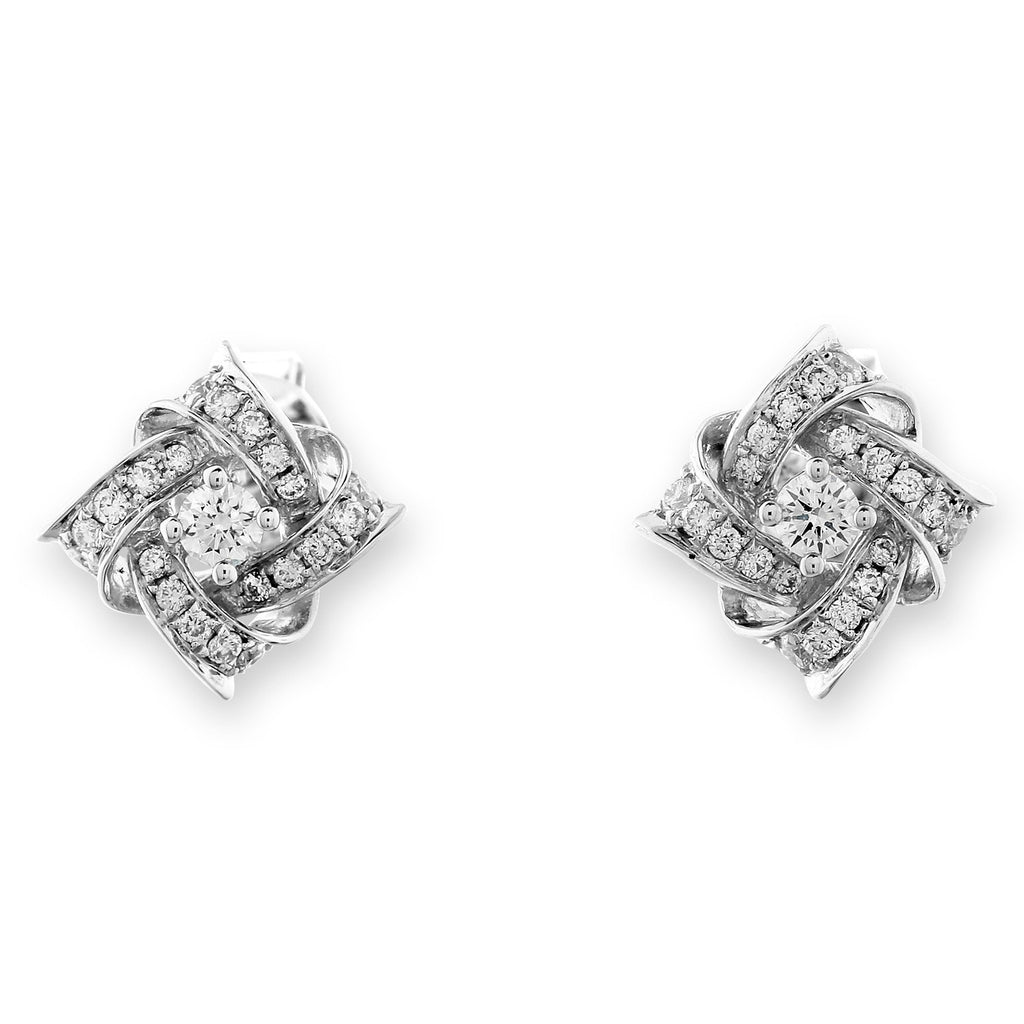 Royal Windsor Earrings in 18k White Gold with Diamonds (0.272ct) Earrings IAD