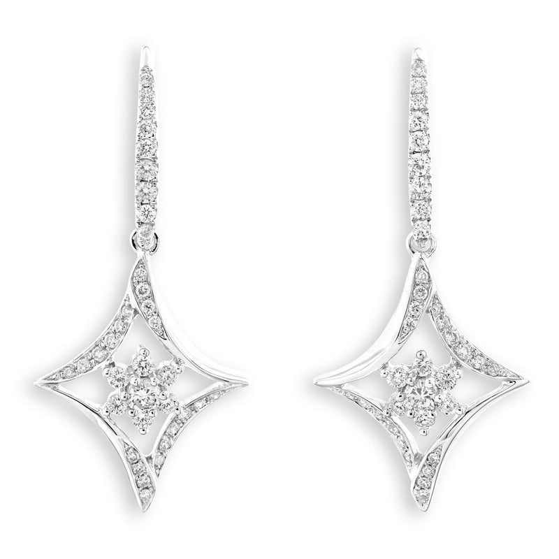 Royal Windsor Earrings in 18k White Gold with Diamonds (0.495ct) Earrings IAD