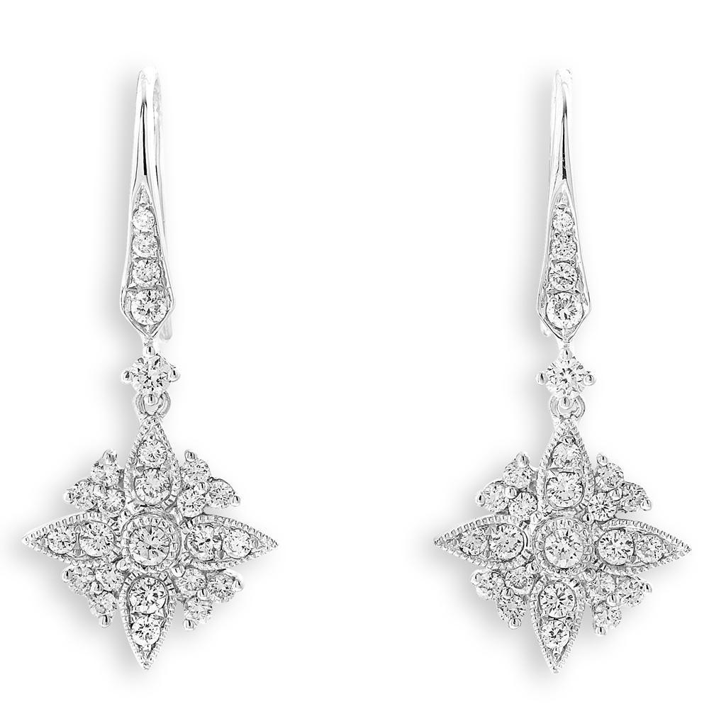 Royal Windsor Earrings in 18k White Gold with Diamonds (0.643ct) Earrings IAD
