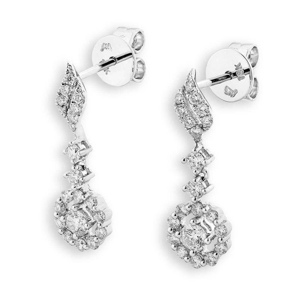 Royal Windsor Earrings in 18k White Gold with Diamonds (0.644ct) Earrings IAD