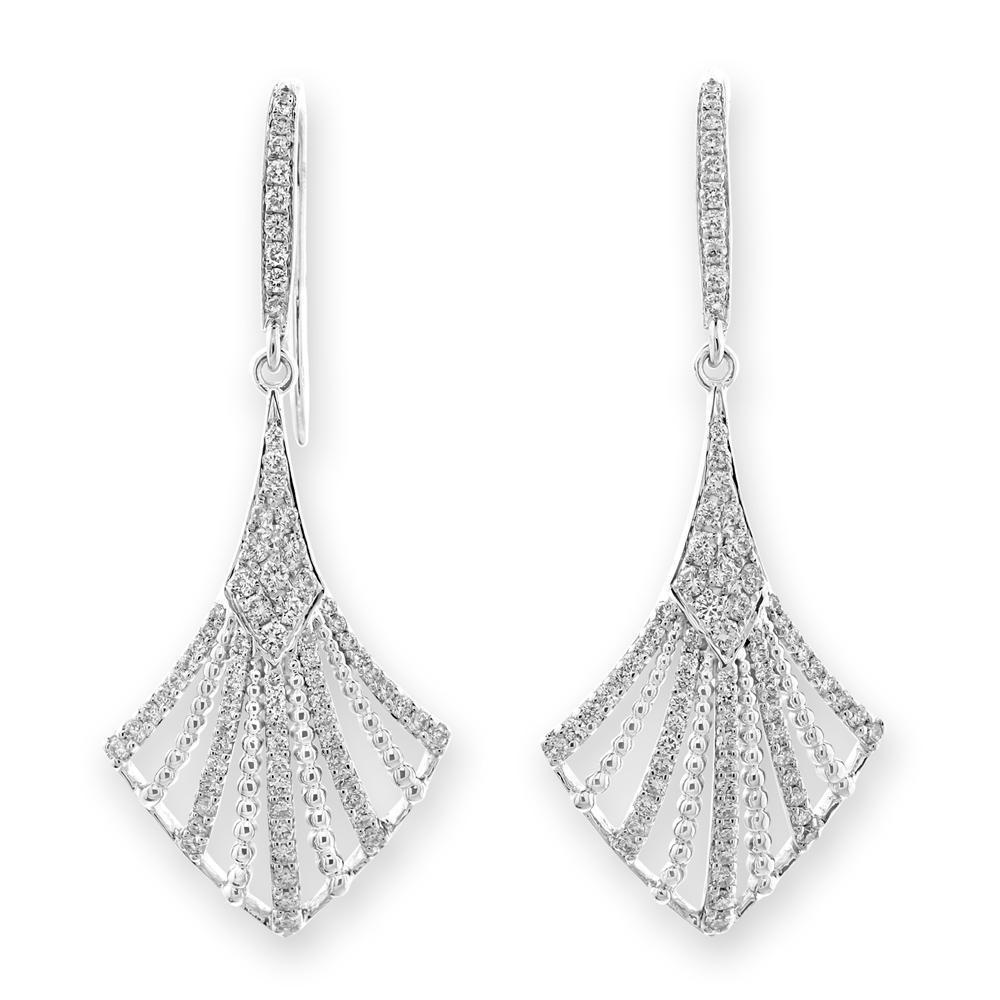 Royal Windsor Earrings in 18k White Gold with Diamonds (0.692ct) Earrings IAD