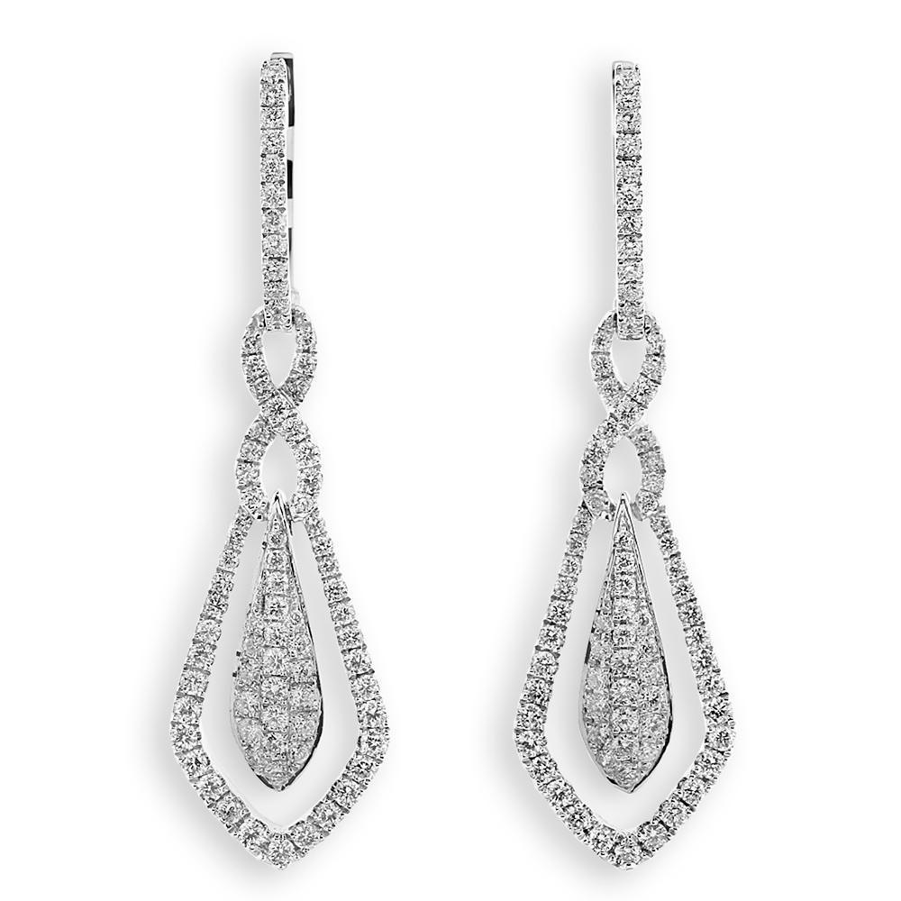 Royal Windsor Earrings in 18k White Gold with Diamonds (0.734ct) Earrings IAD