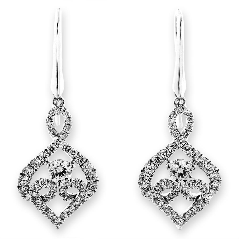 Royal Windsor Earrings in 18k White Gold with Diamonds (0.775ct) Earrings IAD