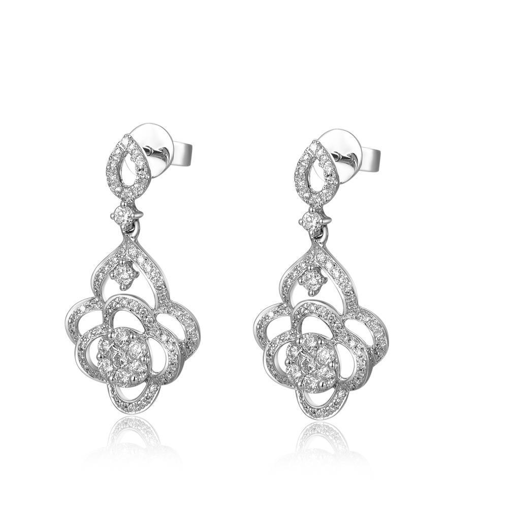 Royal Windsor Elegant Earrings in 18k White Gold with Diamonds (0.926ct) Earrings IAD