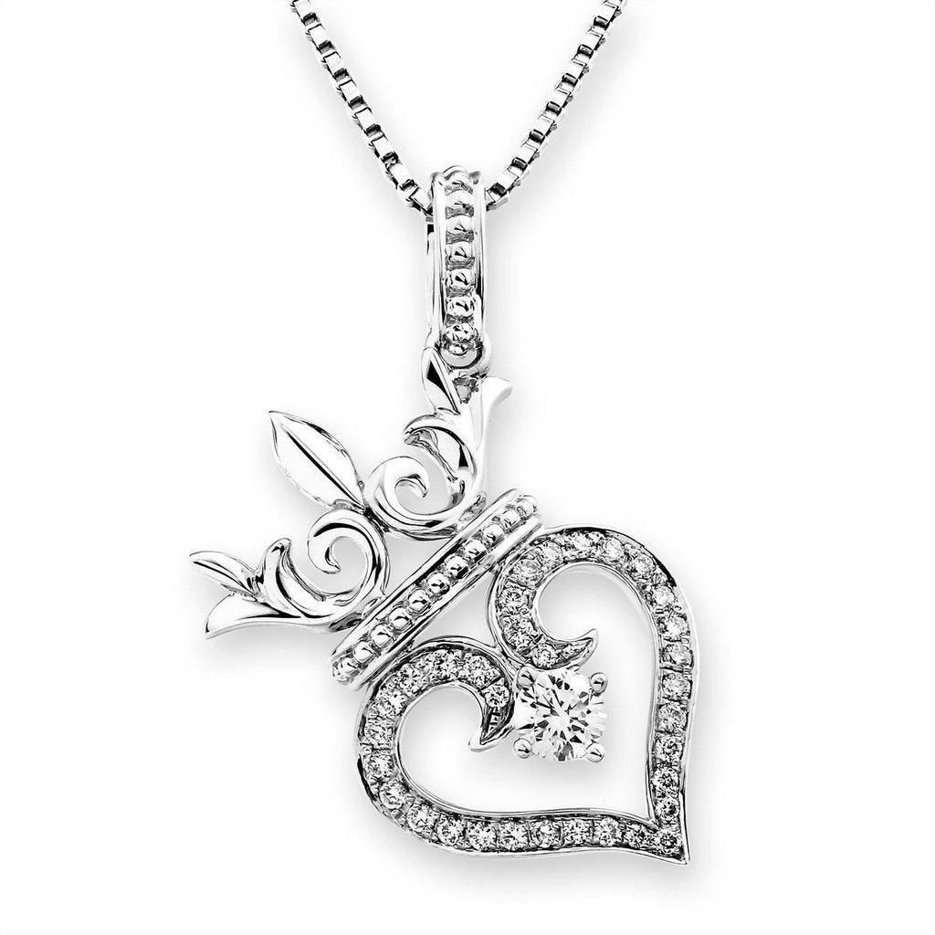 Royal Windsor Heart Pendant in 18k White Gold with Diamonds (0.283ct) Pendant IAD