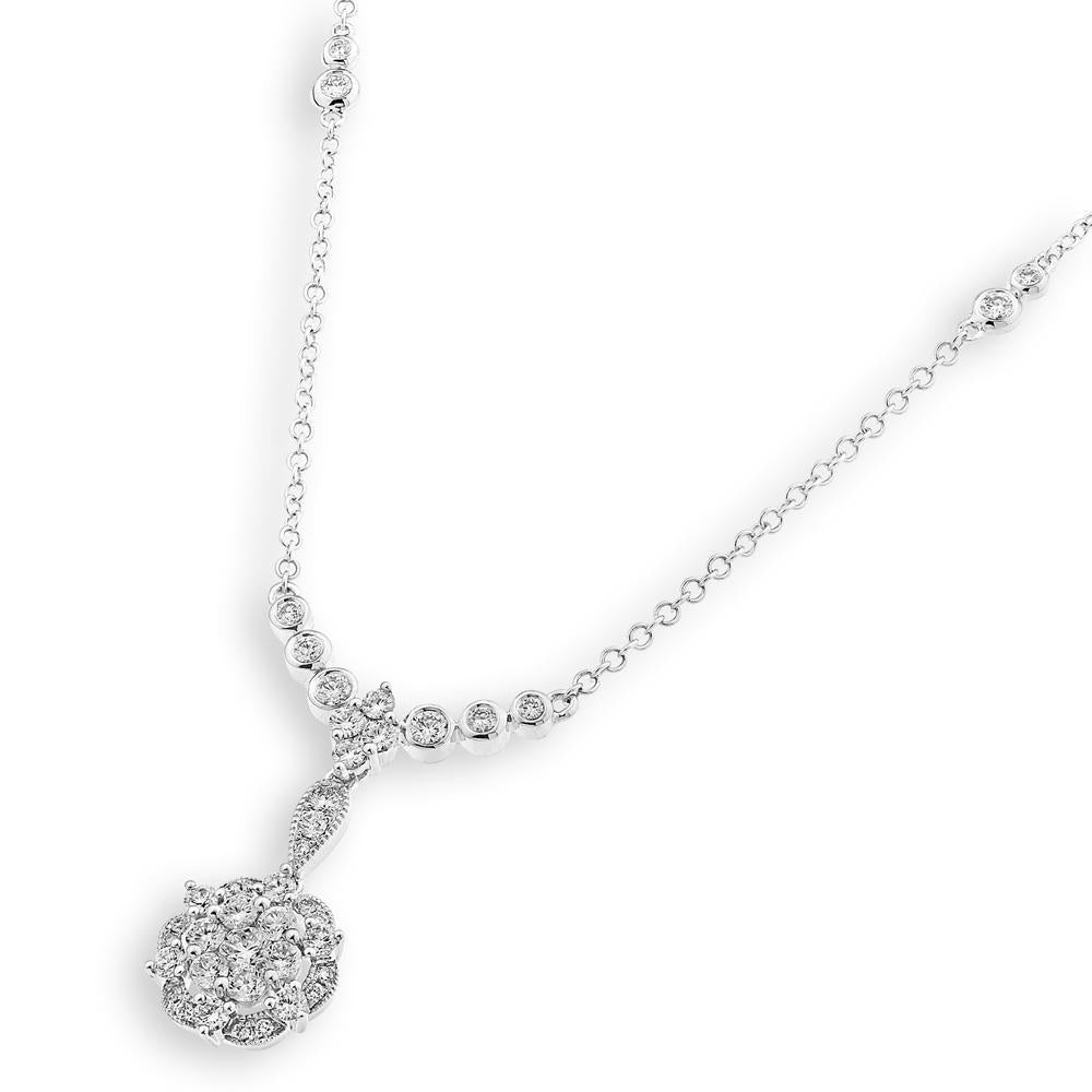 Royal Windsor Necklace in 18k White Gold with Diamonds (0.706ct) Necklace IAD